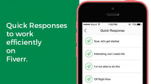 Fiverr Quick Responses to work efficiently on Fiverr