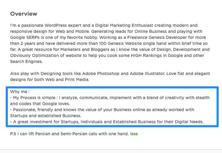 overview upwork freelancer profile - Empower Pakistan