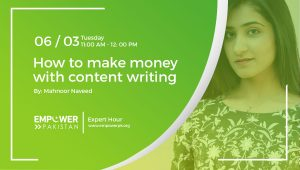 Recording; How to make money with content writing